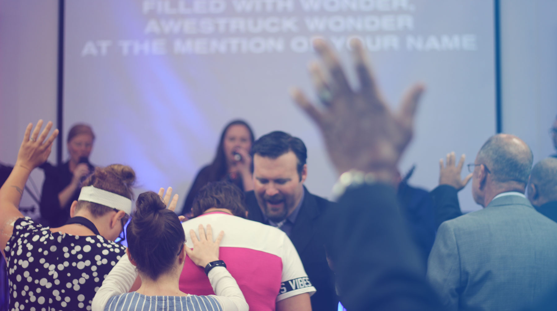 Worship service at GracePoint Fellowship